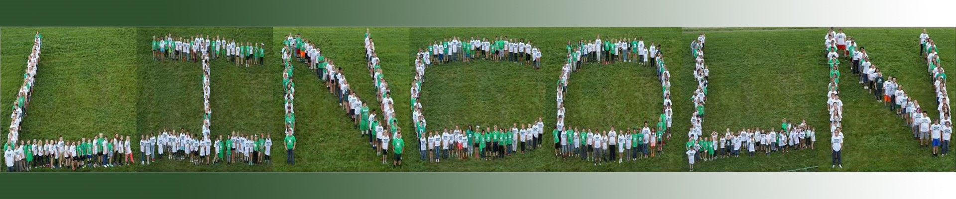 Lincoln Elementary School Students spell out Lincoln